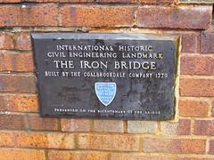 Photo of Iron Bridge bronze plaque