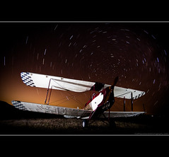 There it is, plane to see (Matthew Stewart | Photographer) Tags: sky night plane matthew awesome tiger flash moth australia explore stewart qld queensland frontpage startrails esk