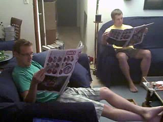 "Ptw Jeff and Dan With Oversized DC ""Weekly Comics"""