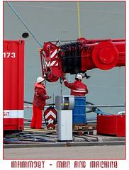 Mammoet - man & machine (dutchmetal) Tags: crane workman employees kraan sheering photocompetition fotowedstrijd manandmachine mammoet inscheren