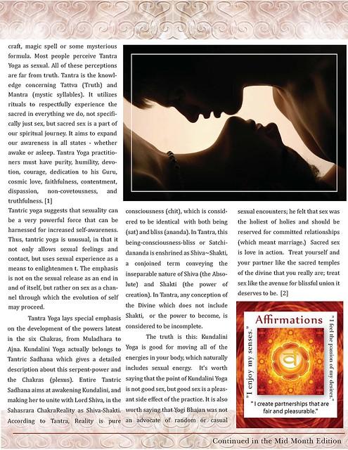 OMTimes Magazine & SACREDspace Studio : June 2011 :Yoga & Sex - The Human Adventure Explored pg2