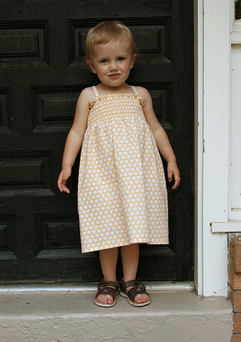 shirred yellow sundress 3