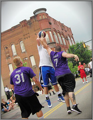 Lancaster Ohio - Gus Macker Basketball - 2011 (rbatina) Tags: county street city boy columbus ohio people playing man game streets male men guy sports boys muscles basketball sport june st festival ball court outside outdoors athletic downtown play shot muscular main contest group fame young free first competition guys 18th dude tournament event teen sweat gathering lancaster strong oh annual athletes thin bball 18 gus dudes trim broad amateur 3rd built fit fairfield teenage 3on3 tourney sweating macker 2011 rubbertoe