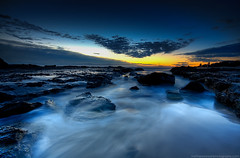 Passing Through (Matthew Stewart | Photographer) Tags: beach water clouds sunrise rocks searchthebest matthew australia stewart qld queensland hdr currumbin goldcoast currumbinbeach aplusphoto theperfectphotographer