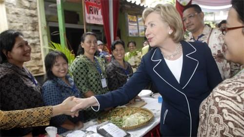 Hillary in Jarkata