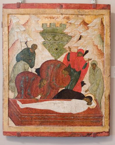 019- El entierro- escuela de Pskov siglo XVI