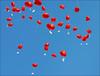 Hochzeitsgrüße (Ballon24) Tags: rot ballon himmel blau herz gruskarte ballon24de herzballon