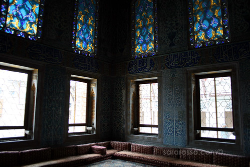 Inside the Twin Kiosk, Imperial Harem, Topkapi Palace, Istanbul, Turkey