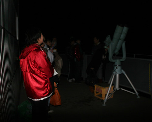 Visitors are watching Pleiades through our large binocular