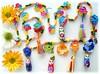 Jardim das Matrioskas (Lidia Luz) Tags: flower necklace handmade crochet flor jewelry bijoux bijuteria colar matrioska matrioshka bijouteria crochê babushska lidialuz