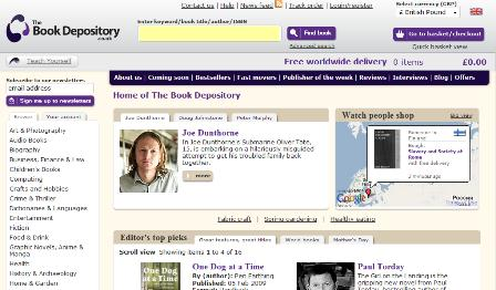 Book Depository homepage