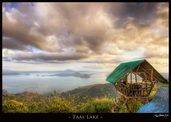Taal Lake (Jaydee Pan (Stopped for a while)) Tags: sea cloud lake nature water animals clouds photoshop canon landscape zoo cow farm philippines cottage sigma rays 1020 tagaytay taal hdr lightroom photomatix 400d