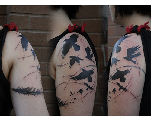 crows by sylvie LS