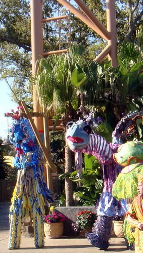 part of a show at busch gardens