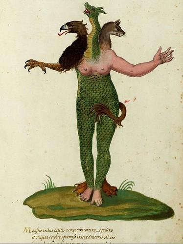 Monstro tribus capitis by renzodionigi