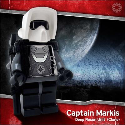 Captain Markis starwars clone trooper custom minifig