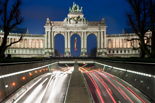 The Thriumphal Arch in the Cinquantenaire Parc  (Brussels)