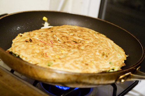 Crispified okonomiyaki