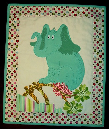 KiwiBrocade1 · Horton Doll Quilt · Horton Hatches the Egg Doll Quilt