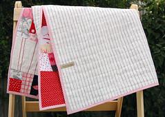 pinkredgreyblack back (leslie.keating) Tags: pink original red black modern grey quilt handmade linen contemporary cotton quilting patchwork