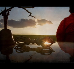 Dorje - Reflections of the Light (h.koppdelaney) Tags: morning light art digital photoshop self energy state symbol monk buddhism philosophy diamond mind duality meditation awareness metaphor soe consciousness puja psyche symbolism psychology archetype dorje mahamudra gantha