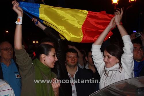 FOTO Miting la Bucuresti pentru sustinerea protestatarilor de la Chisinau 44