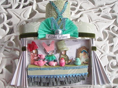Mad Tea Party PID Assemblage!3 (Lisa Kettell) Tags: girls party hat cake glitter altered fun dresden whimsy theater tea magic victorian hats velvet m fantasy crepe teapot teacup sequins magical madhatter teaparty caketime assemblege madhatterteaparty velvetribbon lisakettell