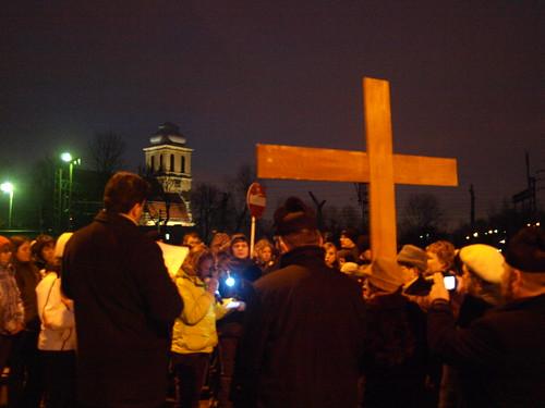 Droga Krzyżowa ulicami parafii 2009r.