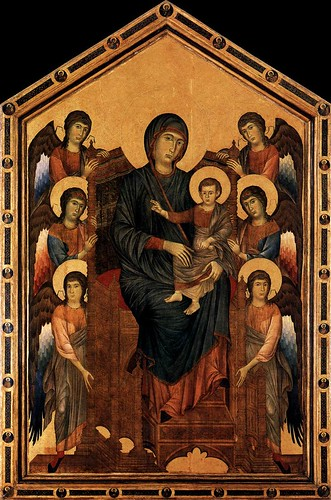 cimabue madonna enthroned with angels. 1290-95 Virgin Enthroned with