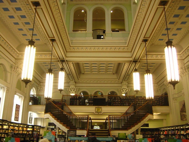 travel vacation england holiday london shop architecture book store birmingham tour britain interior bank waterstones