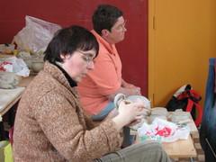 Workshop draaien - Stage de tournage (Françoise Busin) Tags: workshop keramiek draaistage stagedecéramique