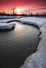 Wood River (Wolfhorn) Tags: wood sunset fab snow ice nature up alaska river spring break wilderness alemdagqualityonlyclub