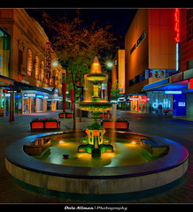 Rundle Mall Fountain - HDR (Dale Allman) Tags: colour heritage water fountain night lights adelaide southaustralia hdr 1740 rundle rundlemall dynamicphoto canon5dmark2 rundlemallfountain