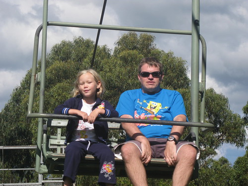 Riding the chair lift