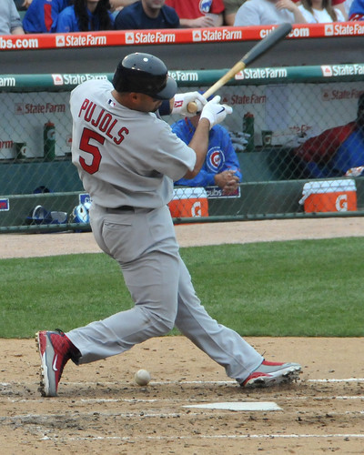 Pujols fouls one off