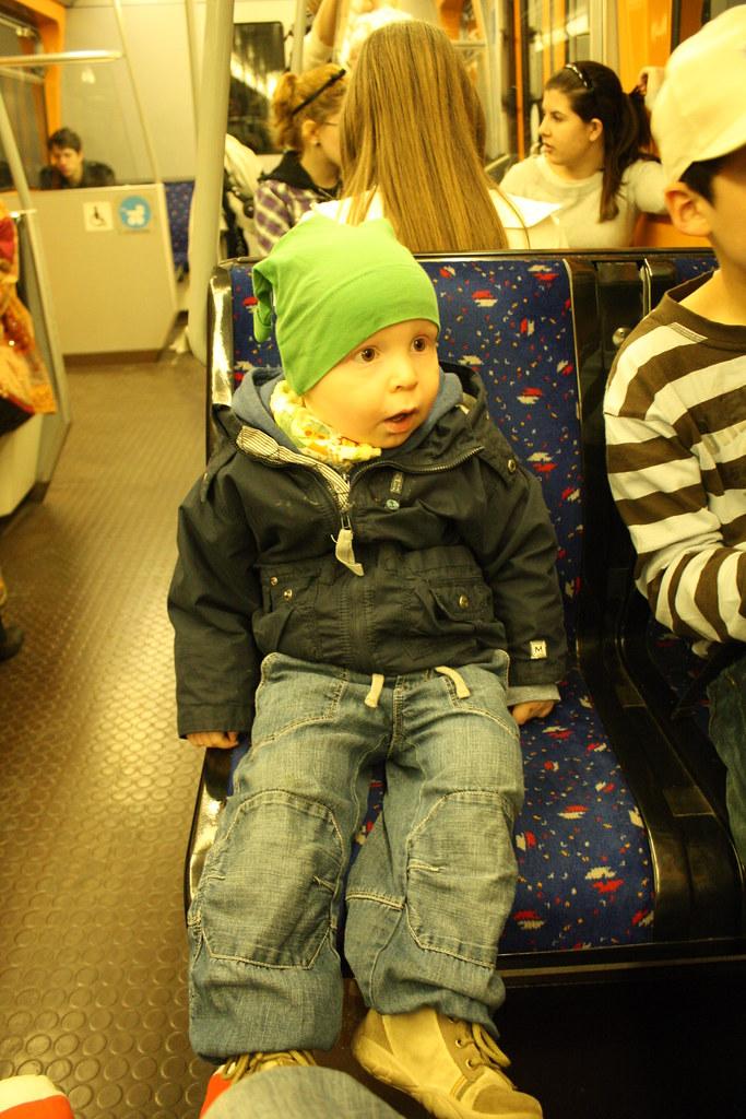U-Bahn fahren in Wien