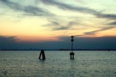 alone togheter... (Blue Spirit - heart took control) Tags: venice sunset clouds tramonto nuvole laguna venezia bricola scattifotografici laltracredosegnalilacondutturadelgas