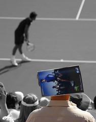 Federer Fan (ZiZLoSs) Tags: world andy canon eos fan championship tennis final roger rafa abu dhabi murray 2009 nadal federer aziz abo 28200mm rafeal abdulaziz  morrey 450d zizloss capitala  3aziz almanie photoziz