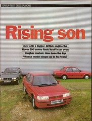 8000 Saloons Group Test Orion BMW 316 Rover 216 Vitesse 1985 1 (Trigger's Retro Road Tests!) Tags: test ford car magazine group rover orion bmw what 1985 ghia vitesse 216 316 saloons 16i 8000