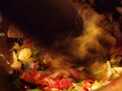 Bash, Bash (Harvey Schiller - chateauglenunga) Tags: red macro green cooking vegetables french asian fry chopper chinese knife cook chips mortar slice thai heat crepe hungry pancake shallots fried bashing crackers mondays grinding pestle inthemoment macromondays
