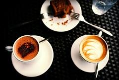 Hot Chocolate, Cappucino, Banana Walnut Cake, Privé Bakery Café, Keppel Island