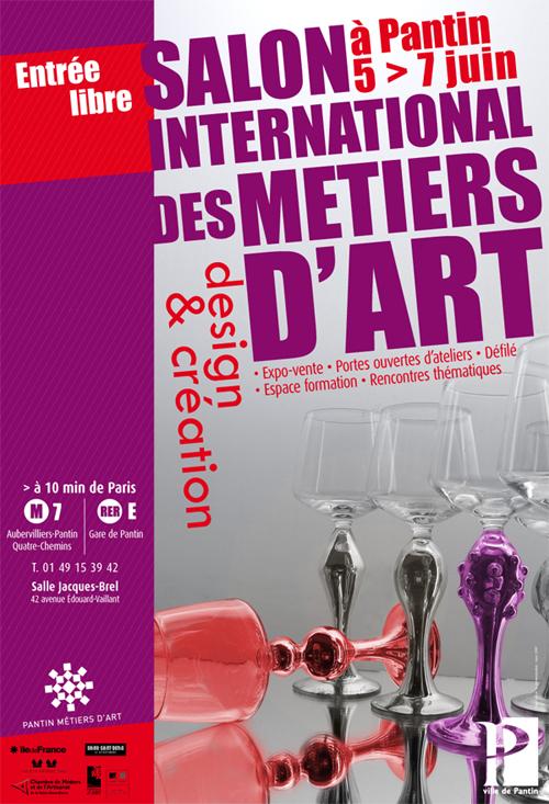 Flyer Salon des Métiers d'Art de Pantin, juin 2009