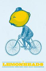 Lemonheads Poster (artfulas) Tags: bicycle illustration lemon citrus lemonheads