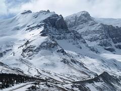Mountain range near Athabasca Glacier (theharv58) Tags: mountains olympus glacier alberta mountainview albertacanada athabascaglacier icefieldparkway 1442mm olympuse510