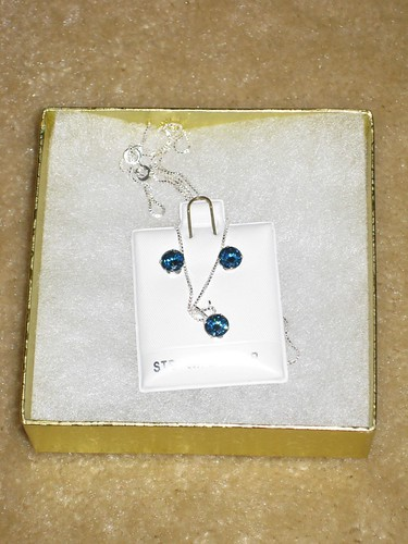 Blue jewelry set from St. Thomas