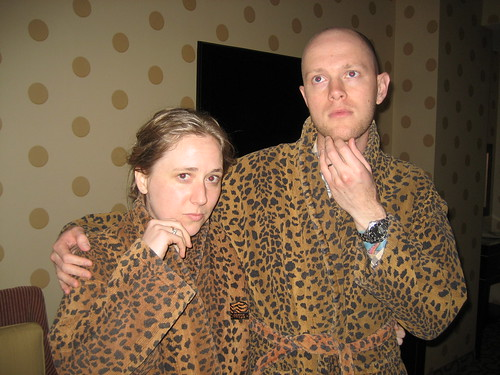 it's just what you do with leopard print robes