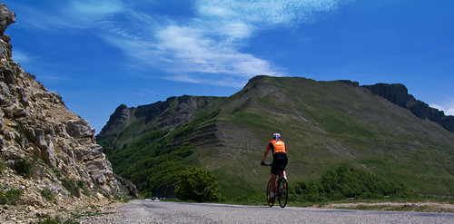 On the road near Ambel in the Vercors. Photo: will_cyclist