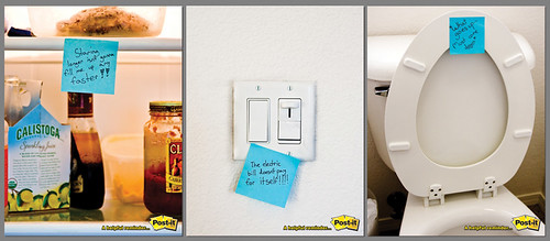 Post-It's three-roll ad campaign