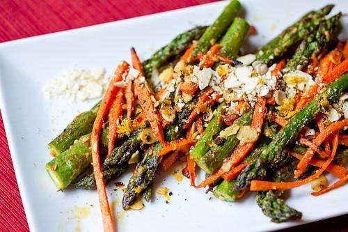Chili Almond Asparagus