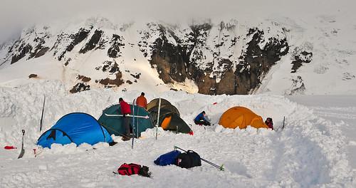 A summer camping in Grímsvötn